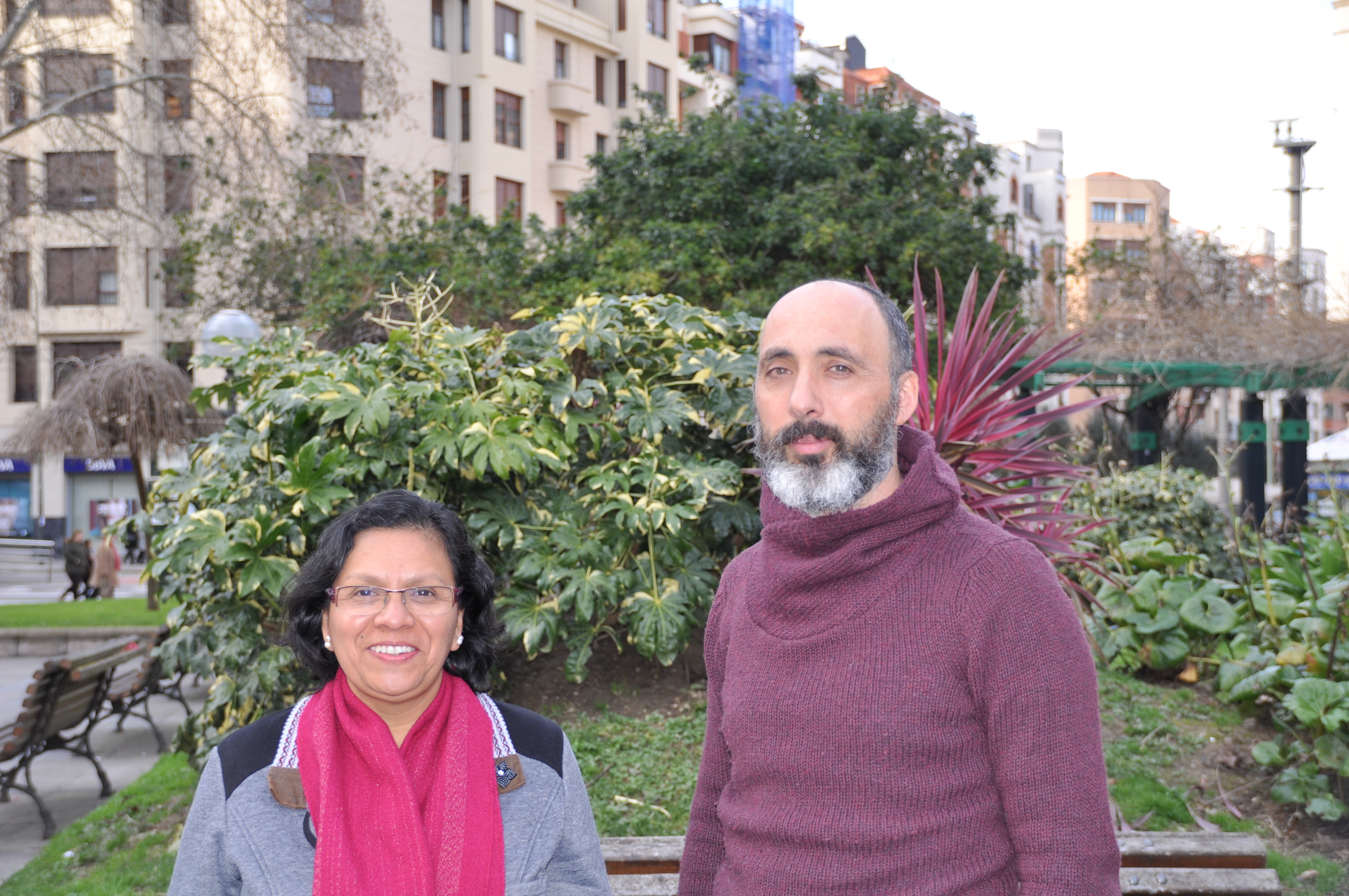 Nancy Juape y Patxi de la Fuente