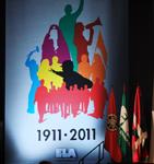 Miribillako ekitaldia banderak